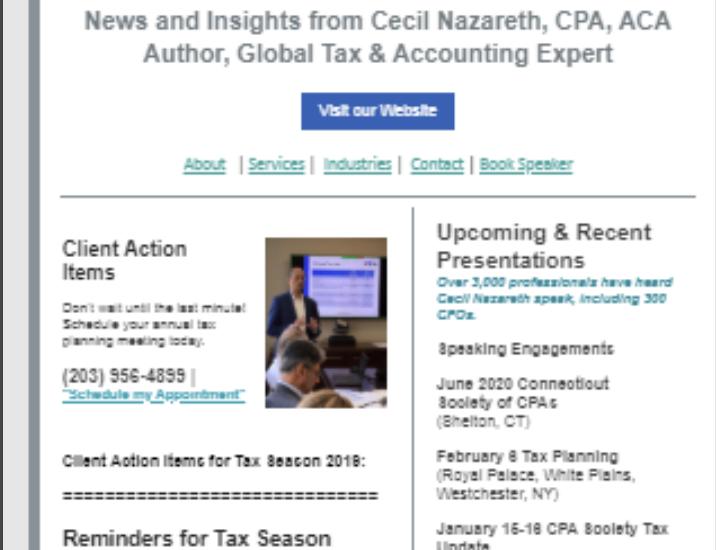 nazareth financial CPA