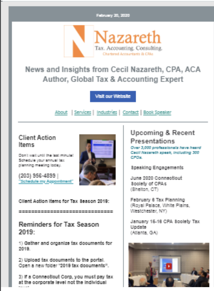 Nazareth CPAs Insights